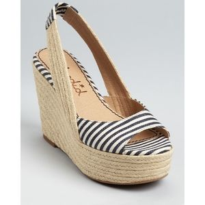 Splendid Perfect striped navy slingback espadrille